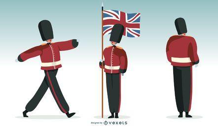 Ilustração da guarda britânica
