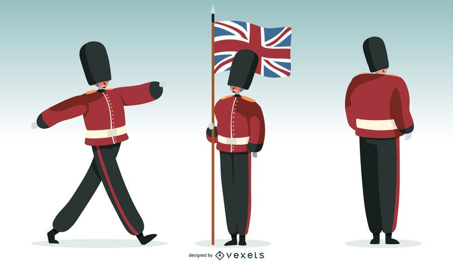 Britische Garde Illustration