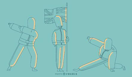 Ilustração Plain Queens Guard