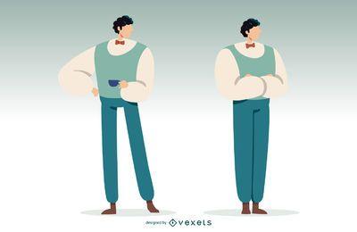 Ilustração de homem britânico