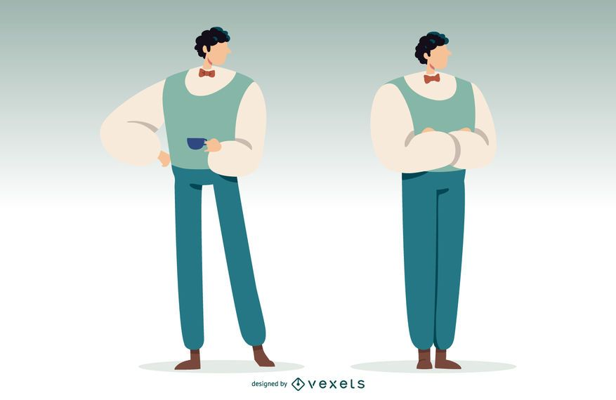 Ilustración de hombre británico