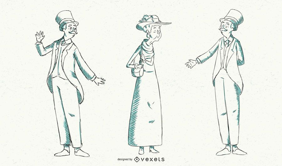 Vintage British Fashion Illustration