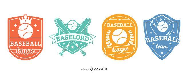 Conjunto de insignias de béisbol.