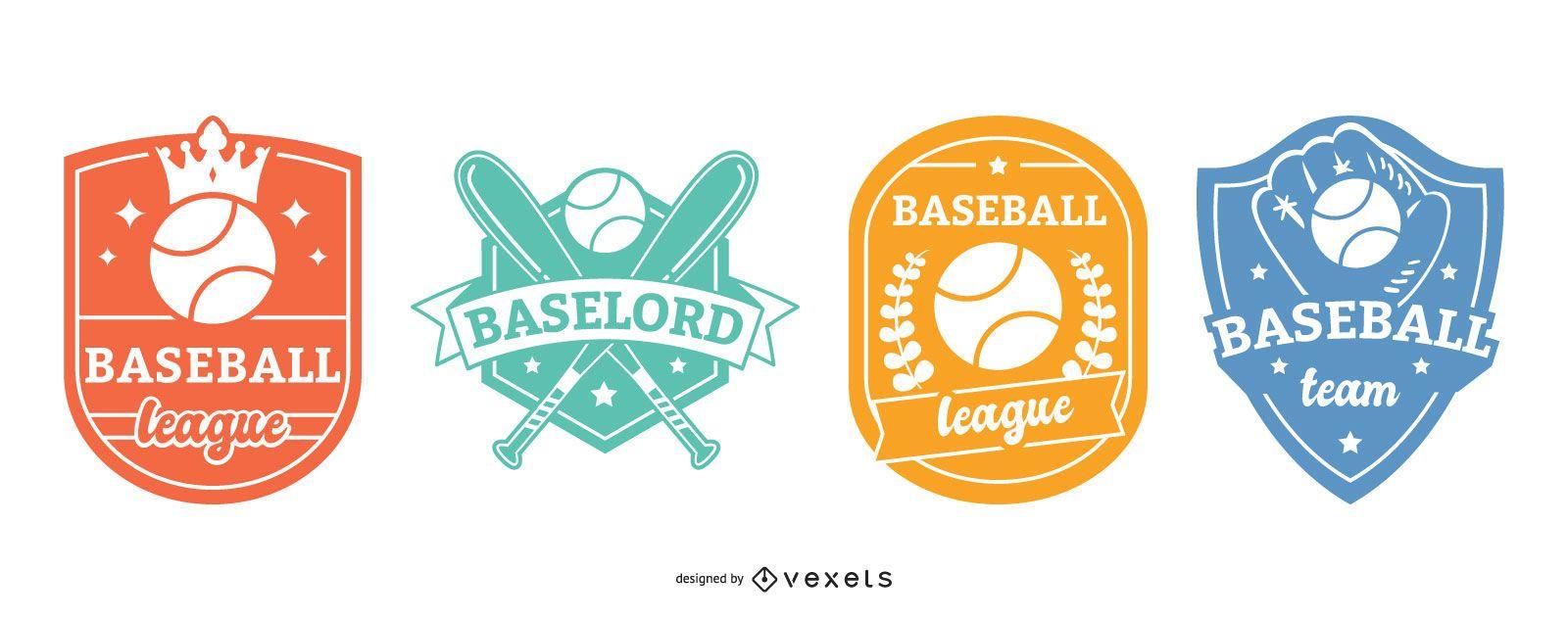 Baseball badges set