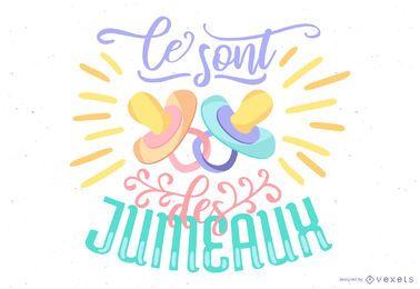 Bebê francês Lettering Vector Design