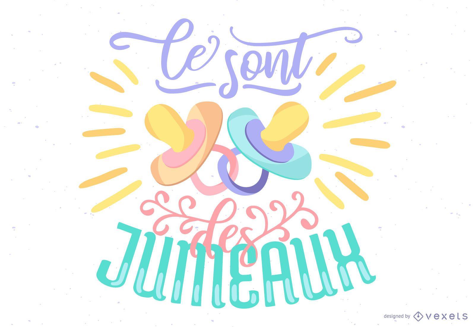 Diseño de vector de letras francesas de bebé