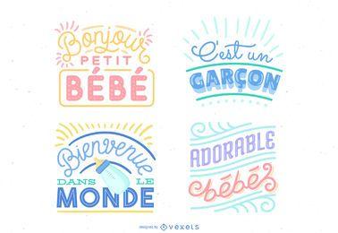 Ilustración de letras de bebé nuevo