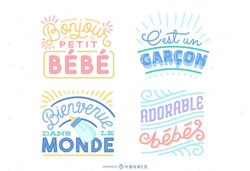 Nueva ilustración de letras de bebé