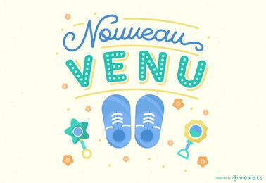 Newcomer Baby Lettering Illustration