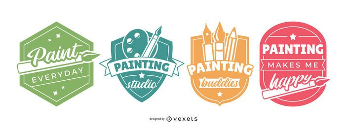 Painting Badges Set