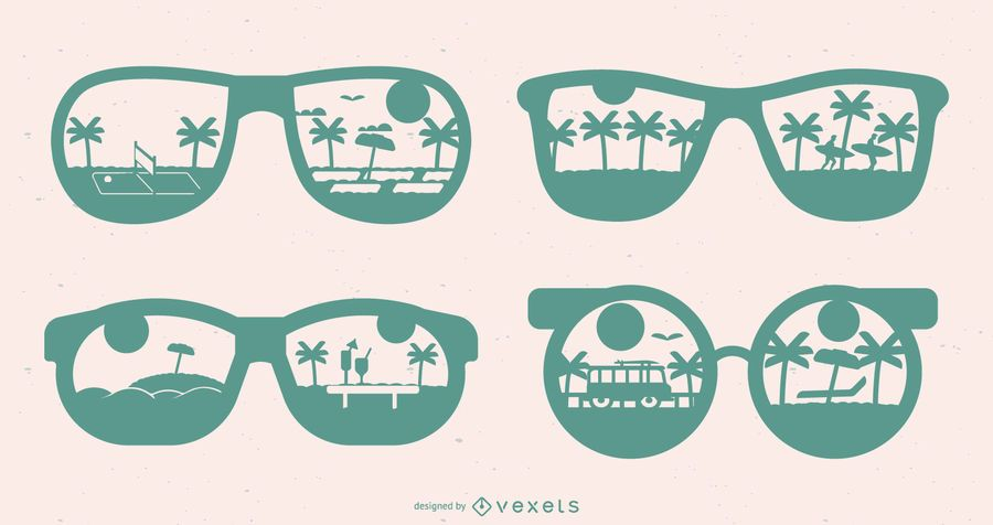 Silhoutte Summer Glasses Design Set