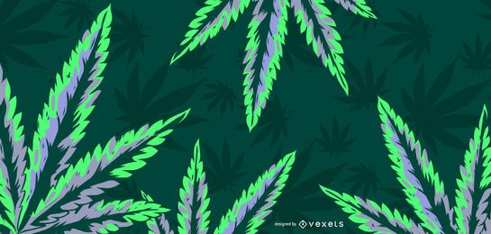 Cannabis-Blatt-Illustration