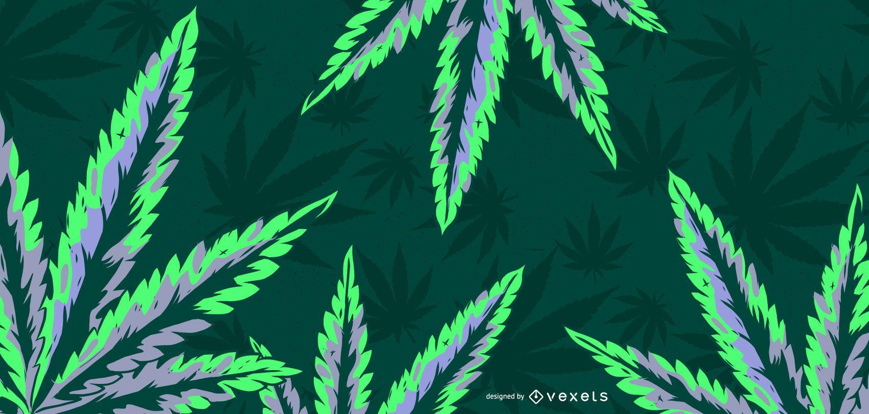 Ilustração da folha de cannabis