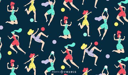 Patrón de fútbol femenino