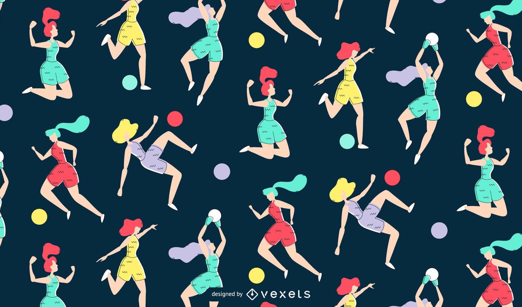 Women's Soccer Pattern