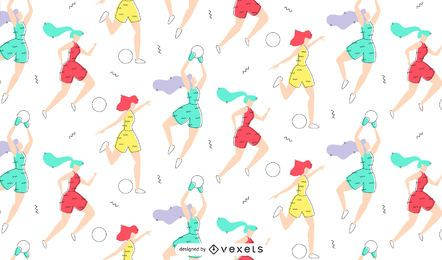 Women Footballers Pattern