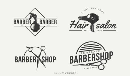 Desenhos de logotipo de negócios de estilo de cabelo