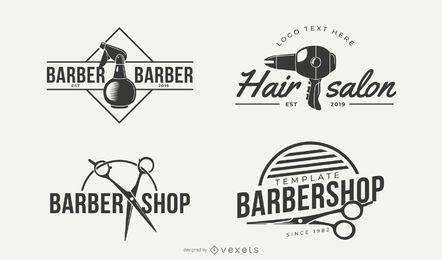 Diseños de logotipo de estilo de pelo de negocios