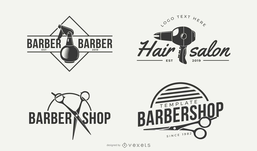 Hair Style Business Logo Designs