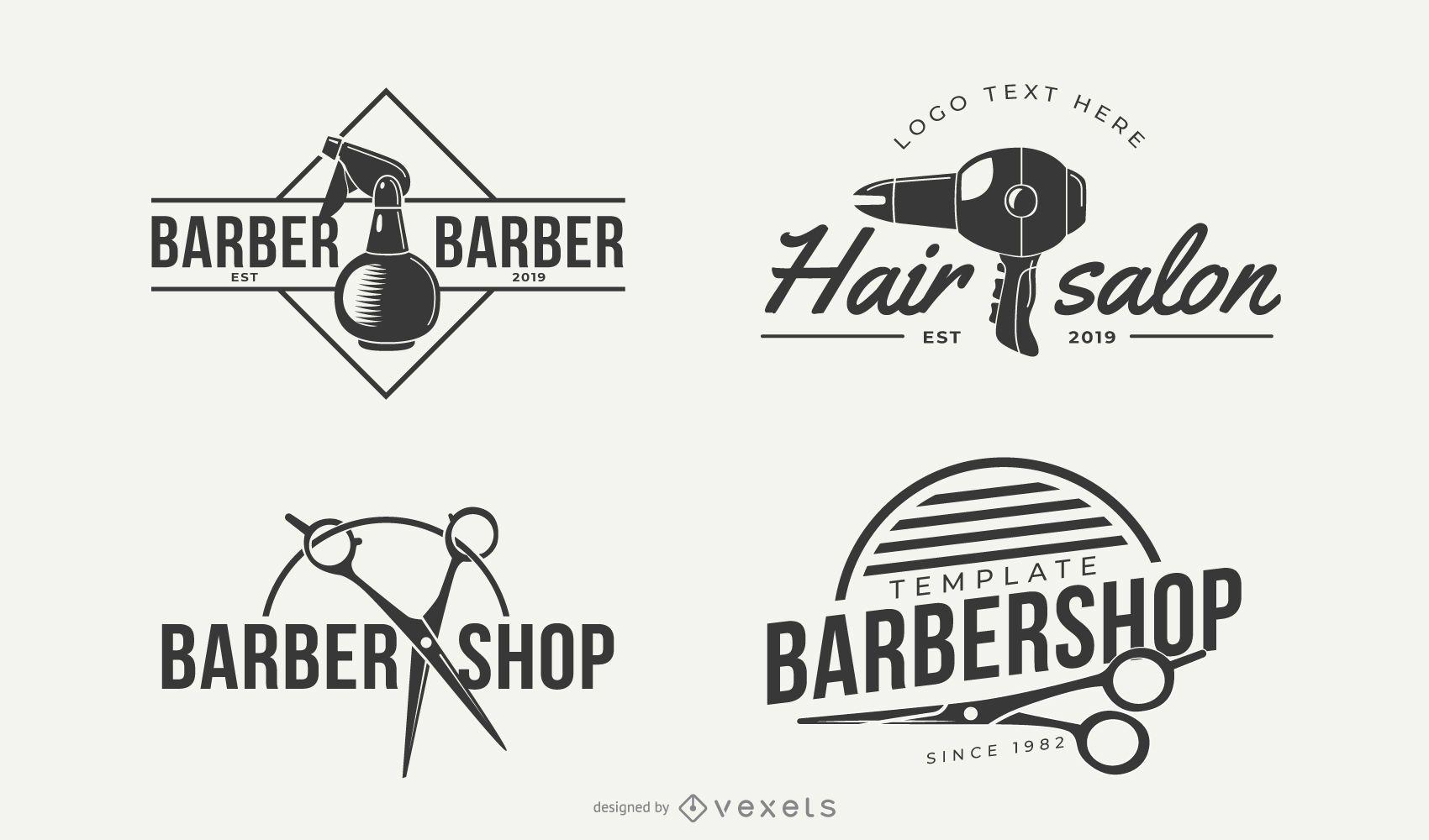 Diseños de logotipos de empresas de peluquería