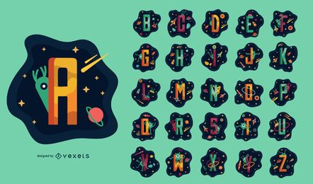Space Themed Alphabet Set