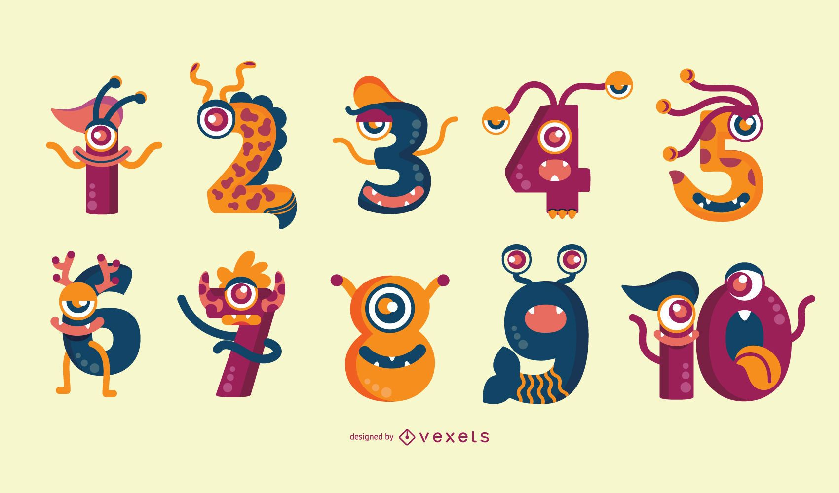 Colección de números de monstruos