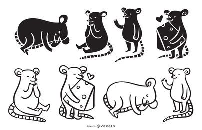 Niedliche MäuseCartoonsammlung