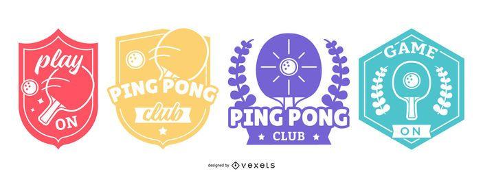 Conjunto de insignias de ping pong