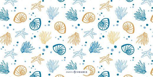Design de padrão do mar