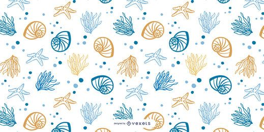 Diseño de patrón de mar