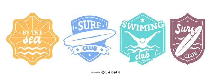 Swimming Badges Set