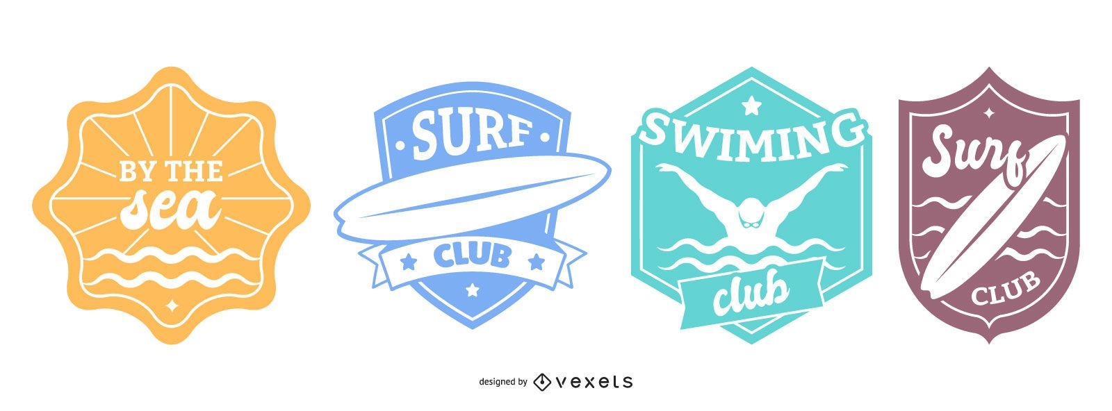 Swimming Badges Set