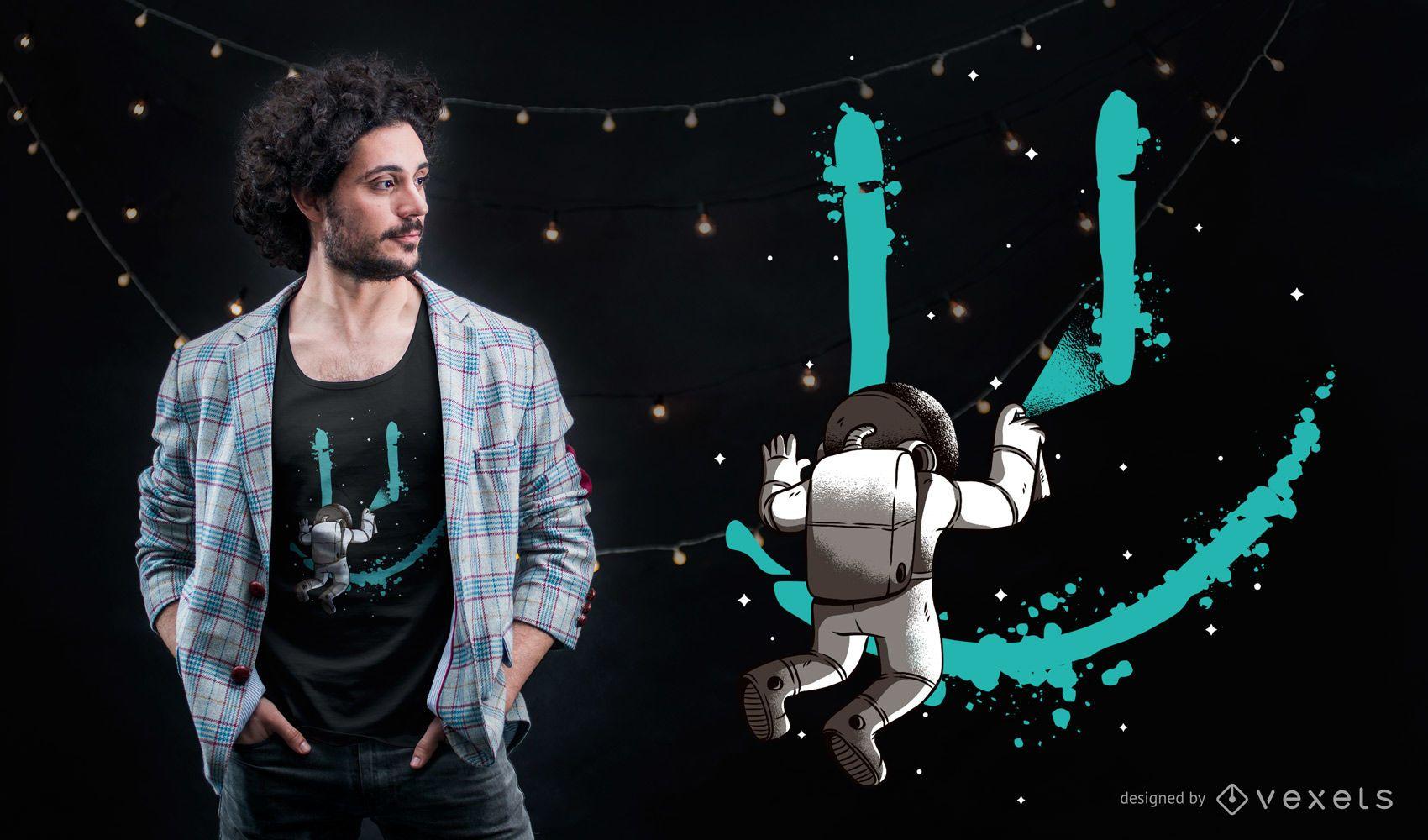 Astronaut Grafitti T-shirt Design