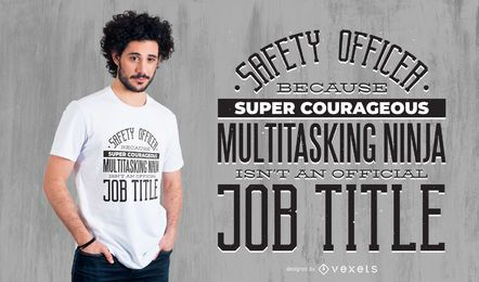Safety Officer Profession T-shirt Design