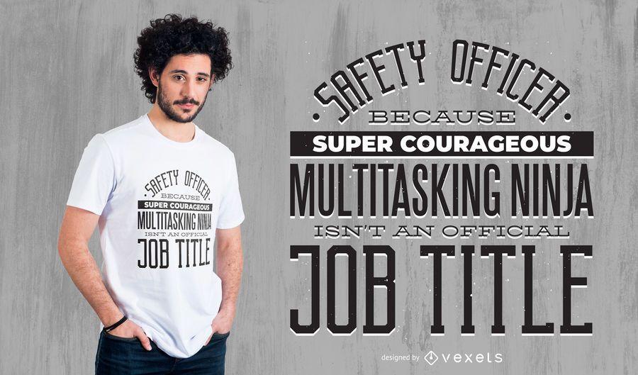 Projeto do t-shirt da profissão do oficial de segurança