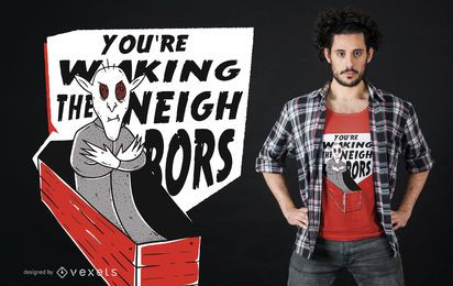 Diseño de camiseta de letras vampiro