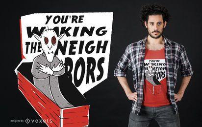 Vampire Lettering T-shirt Design