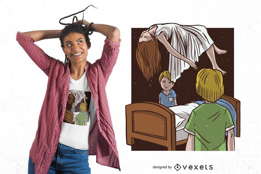 Possessed Girl T-shirt Design