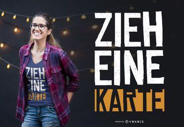 Diseño de camiseta alemana mago