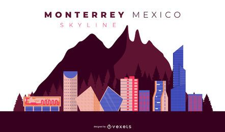 Monterrey Skyline Illustration