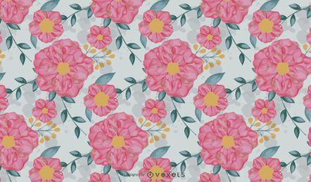 Blumenaquarell-Muster-Vektor