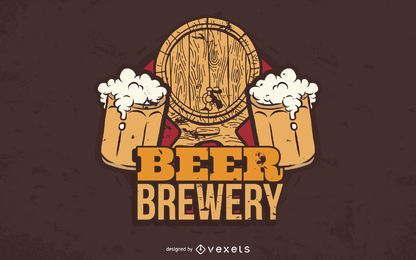 Beer Brewery Vector Graphic