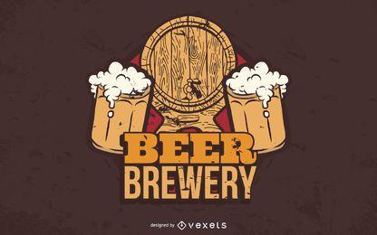 Gráfico vectorial de cervecería de cerveza