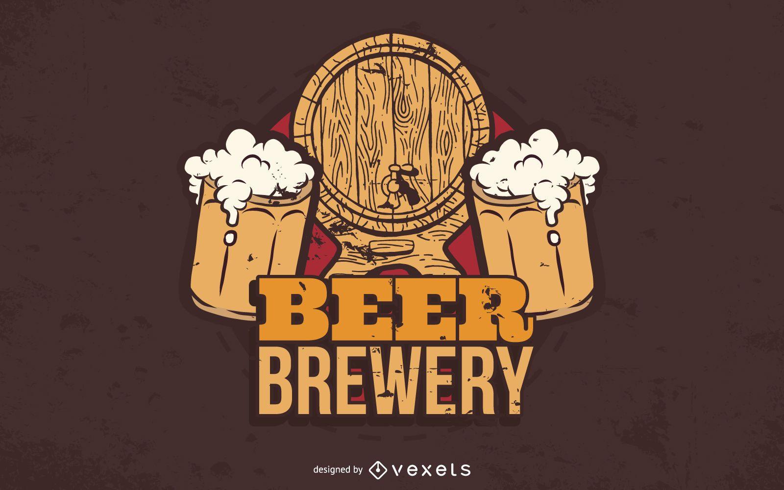 Beer Brewery Vector Graphic