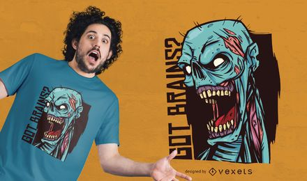 Diseño de camiseta Got Brains