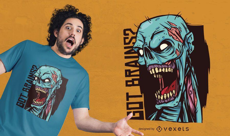 Diseño de camiseta Got Brains