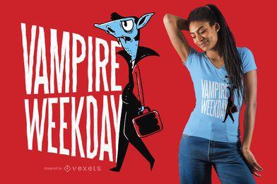 Diseño divertido de la camiseta del vampiro