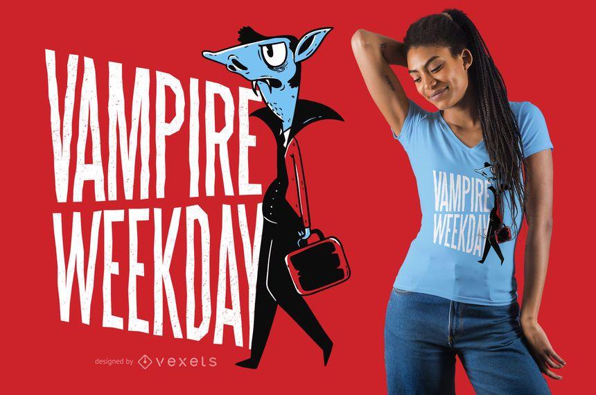 Lustiger T-Shirt Entwurf des Vampirs