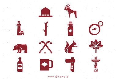 Canada Flat Icon Set