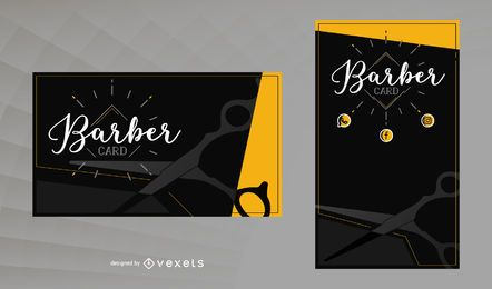Modelo de cartão de barbeiro